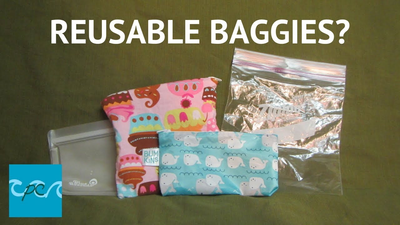 Reduce Your Plastic Waste Reusable Snack Bags