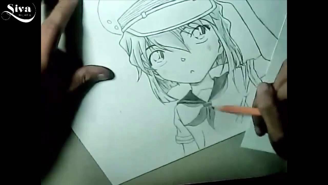 Hướng Dẫn Vẽ Haibara Ai