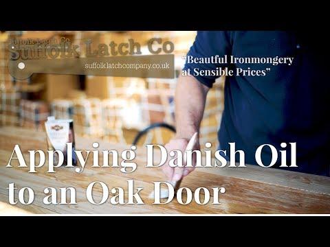 Applying Danish Oil To An Oak Door