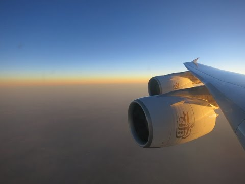Emirates  |  EK148  |  A380  |  Amsterdam - Dubai  |  Full Flight HD