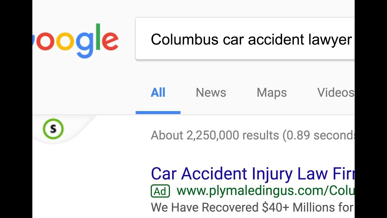 Columbus car accident law firm website analysis 2 - YouTube