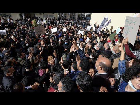 مئات التونسيين يتظاهرون بالعاصمة في تصعيد للاحتجاجات المتواصلة ضد الحكومة  - نشر قبل 21 ساعة