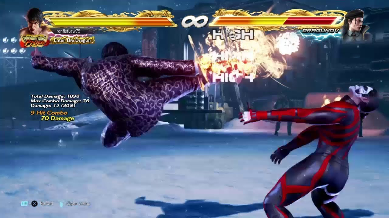 Tekken 7 Law - Max damage from d/f+2 (70 dmg)