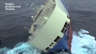 Les images d'un cargo en détresse au large de La Rochelle