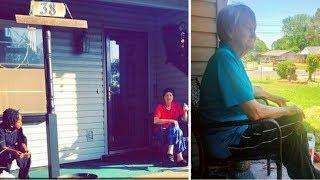 Woman sees neighbor
