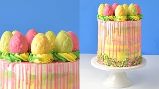 HOW TO MAKE EASTER/SPRING CHOCOLATE EGGS CAKE by HANIELA