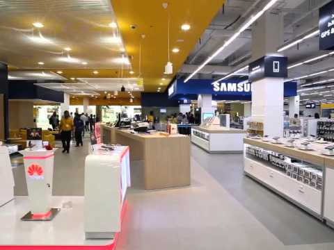 Huawei smart phones on display at Sharaf DG's revamped and expanded outlet