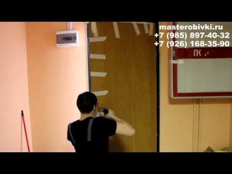 Как обшить входную дверь панелями мдф