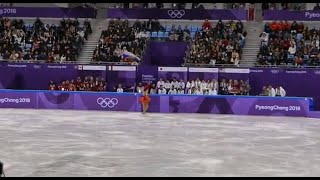 2018 Pyeongchang Olympics Figure skating Team event  Women's Free Warm up Alina Zagitova