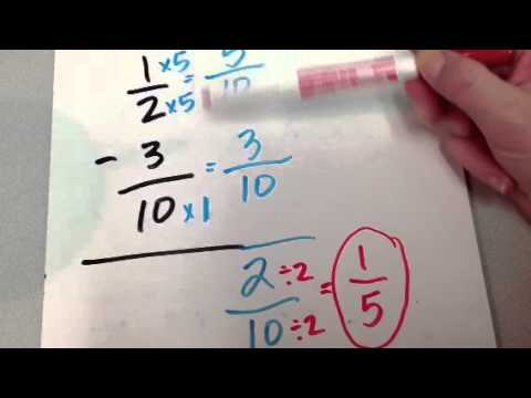 Download Subtracting Fractions 1 Mp4 baru