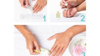 Sådan laver du en hjemme manicure - med Depend.