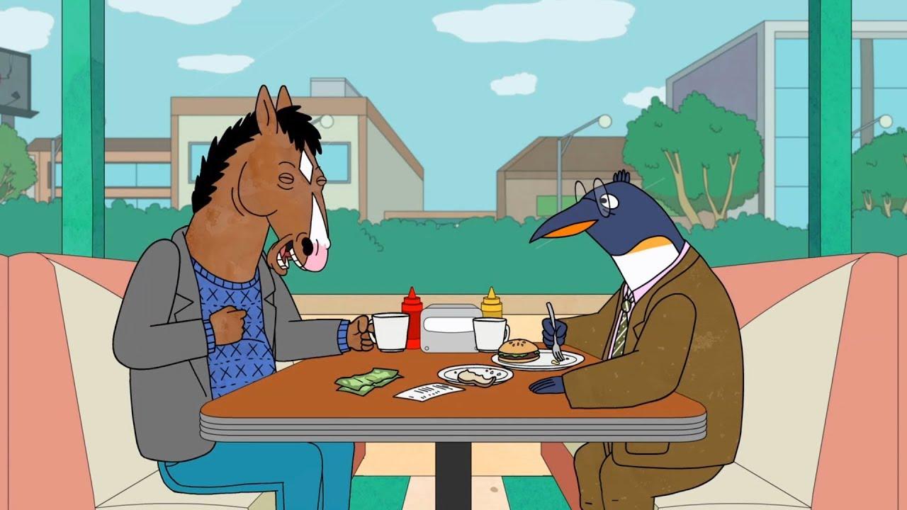 bojack horseman bojack meets pinky penguin youtube