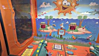 Chameleon Paradize Arcade Game Video Gameplay With 4 Kids Challenge At The Pizza Parlor