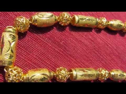 24K PURE GOLD CHINESE NECKLACE