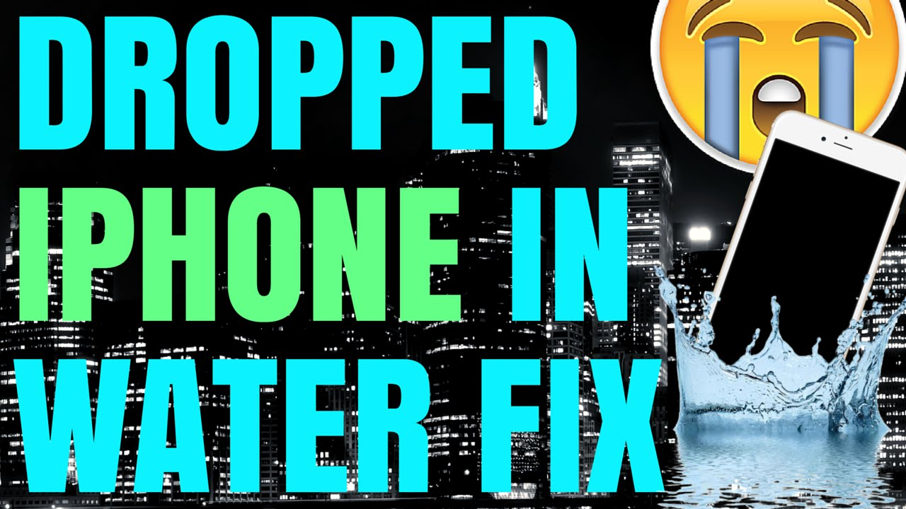 iPhone has no sound after dropping in water toilet wet how to fix