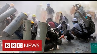 Dozens killed in Myanmar protests as security forces fire on crowds - BBC News