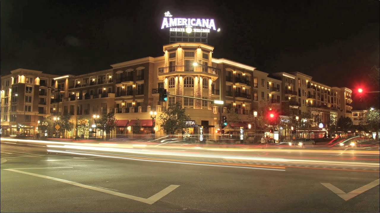 Timelapse at the americana at brand glendale ca canon for The glendale