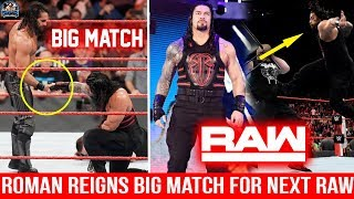 Roman Reigns BIG MATCH Confirmed For Next Raw ! Roman Reigns in ACTION on Raw ! WWE Raw 25 Feb 2019