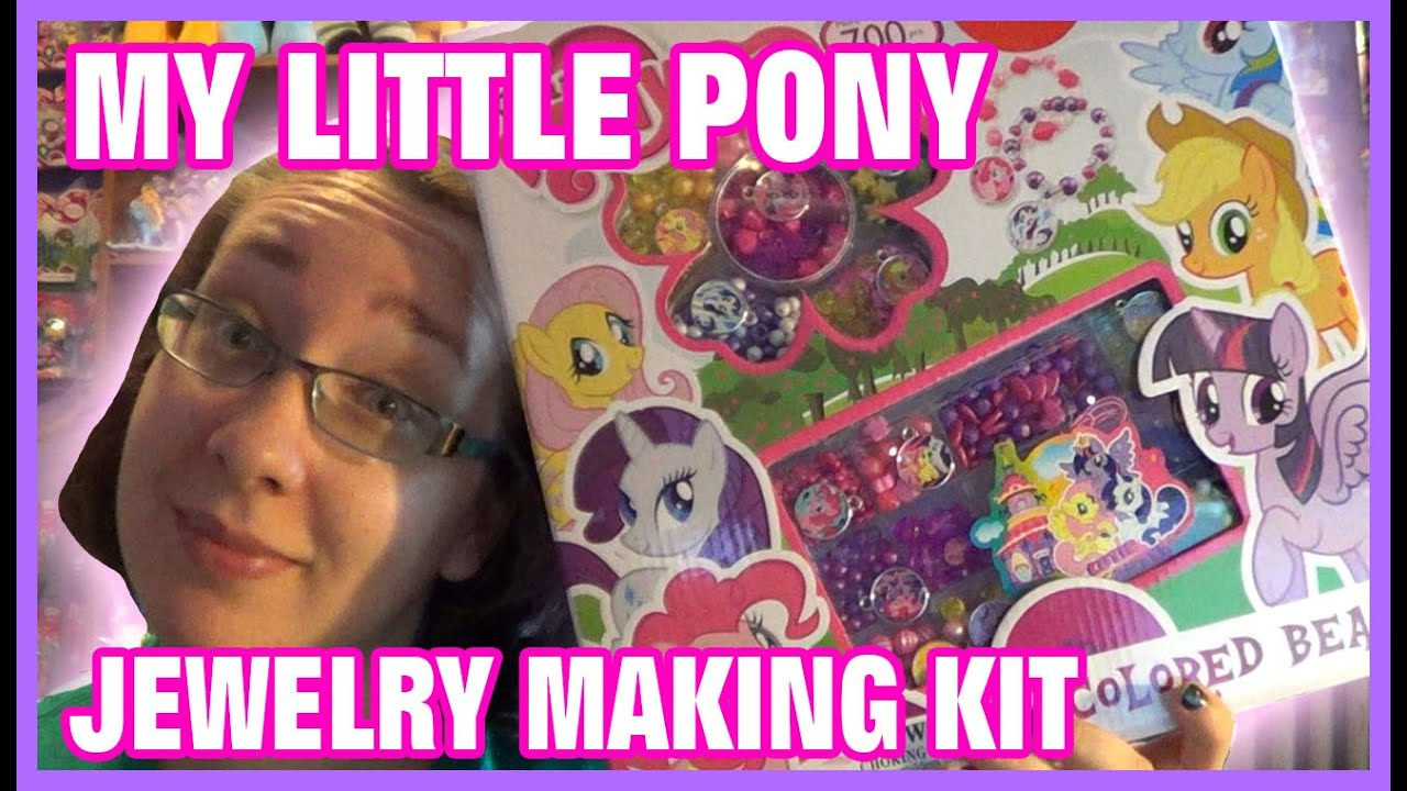My Little Pony Colored Beads Jewelry Making Set Youtube