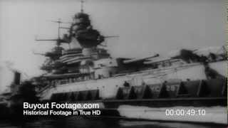 HD Stock Footage WWII French Warships Refitted In U.S. To Fight Axis 1943 Newsreel