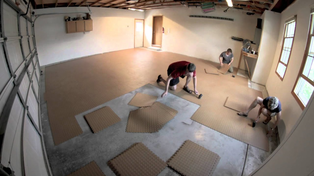 How to install flex tiles garage flooring inc youtube doublecrazyfo Choice Image