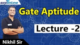 GATE Aptitude Lectures-2 By Nikhil Sir