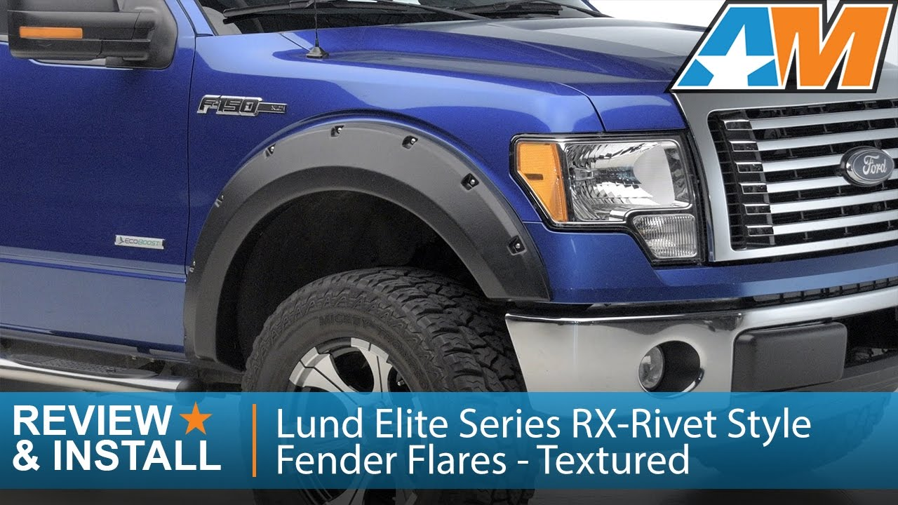 2009 2014 f 150 lund elite series rx rivet style fender flares textured review install youtube