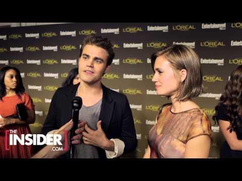 Paul Wesley & his wife Torrey DeVitto Interview - HD 720P - 2012/9/21