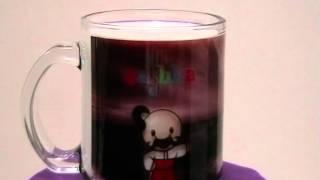 Фото на стеклянной чашке(Цвета на такой чашке выглядят не яркими пока в нее не нальют что нибудь. Чашка хорошо подходит для печати..., 2014-01-20T16:09:49.000Z)
