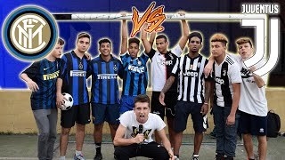 Interisti VS Juventini - DISSING e sfida a CALCIO 3 vs 3!! Inter vs Juve