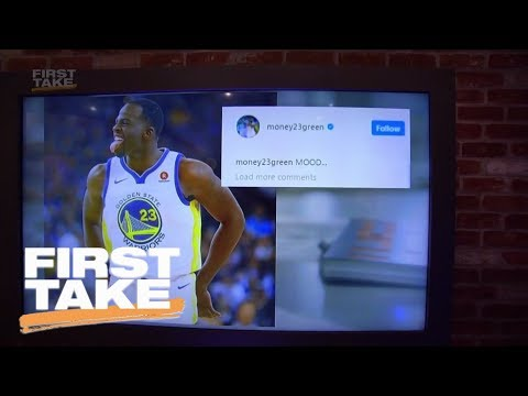 First Take reacts to Draymond Green denying trolling LeBron James on Instagram | First Take | ESPN