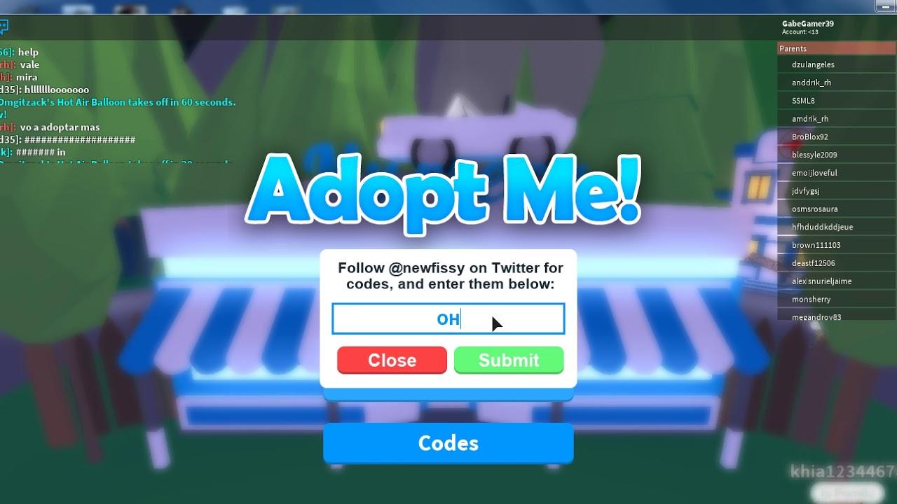 Adopt Me Wiki Codes
