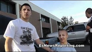 Pelos Garcia Boxing Star (BKB Champ) & People's Champ - Elie Seckbach Reporting