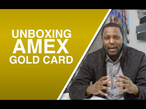 Unboxing American Express Gold Card