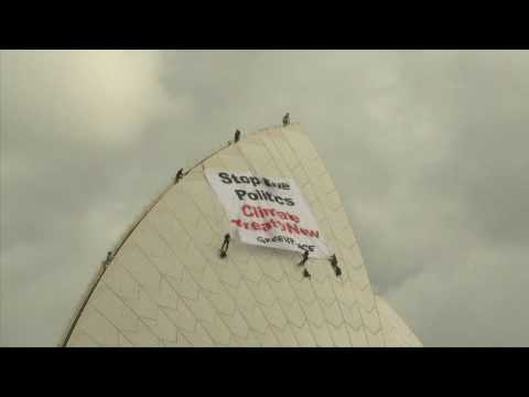 Activists take climate message to Sydney Opera House