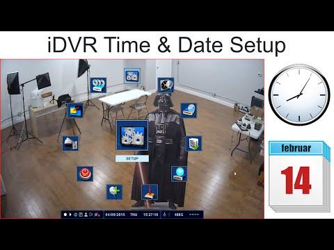 iDVR CCTV DVR Setup Time Date