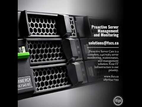 Proactive Server Management and Monitoring  solutions@fscs.ca