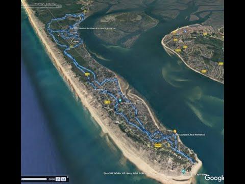 Survol du  Marathon des Villages de la presqu'île du Cap Ferret - Villages et étapes #1