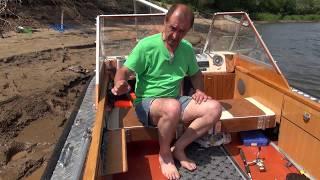 Супер лодка 4. Астрахань. Лодка профессионального рыбака. Хорошая лодка. Обзор лодки для рыбалки