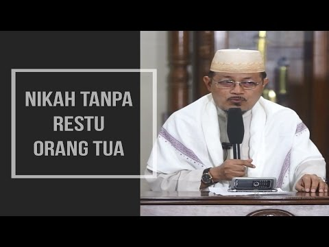 NIKAH TANPA RESTU ORANGTUA : Kyai Prof Dr H Ahmad Zahro MA al-Chafidz