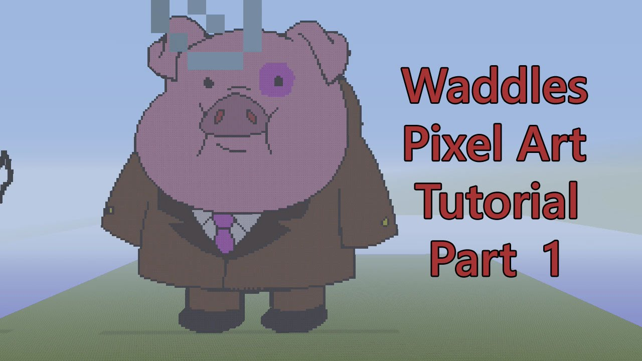 Gravity Falls Mabel And Waddles Wallpaper Minecraft Pixel Art Tutorial How To Make Waddles The Pig