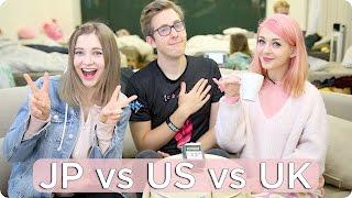 British VS American VS JAPAN! | Evan Edinger & Connie Glynn & Sharla