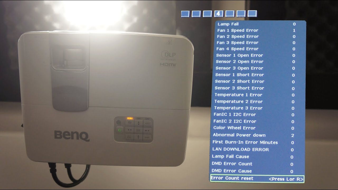 How to get to the Service/Factory menu of a BenQ projector (W1070)