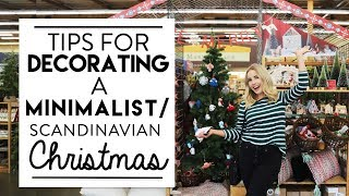 CHRISTMAS DECORATING | Minimalist/Scandinavian CHRISTMAS Design Style