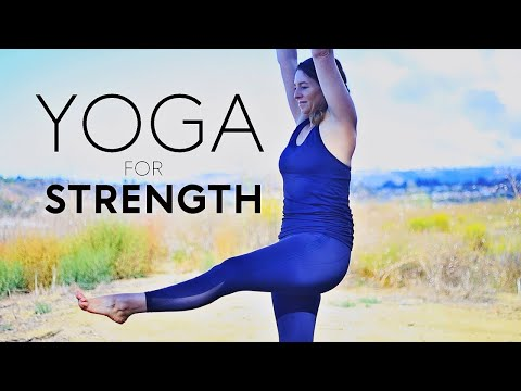 20 minute Yoga For Strength (Lower Body Workout) | Fightmaster Yoga Videos