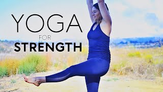 20 minute Yoga For Strength (Lower Body Workout) | Fightmaster Yoga Videos thumbnail