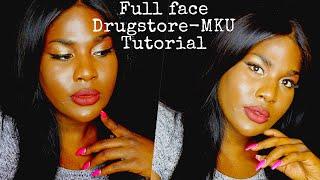 FULL FACE DRUGSTORE MAKEUP TUTORIAL | Kimora Coxx