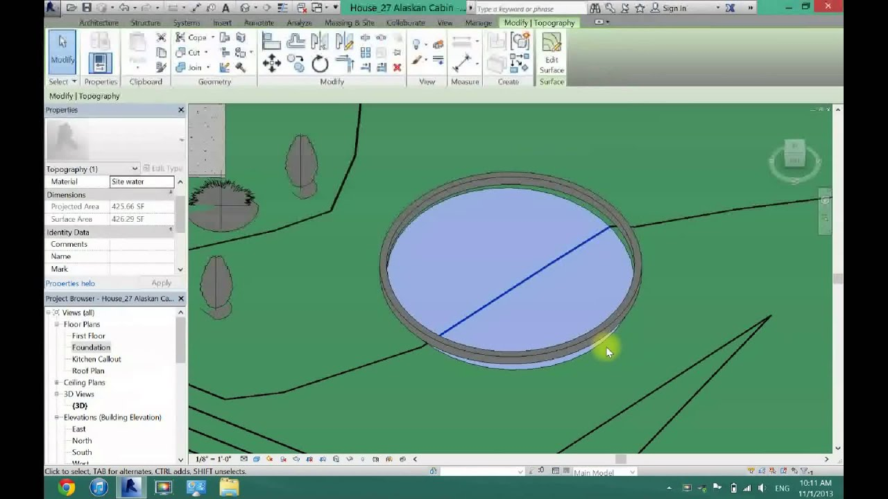 How to Make Custom Shaped Pools in Revit Architecture