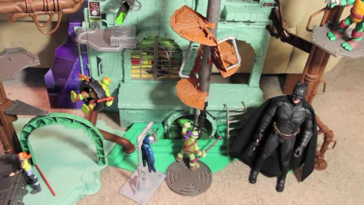 Mutant ninja turtles secret sewer lair playset toy review youtube