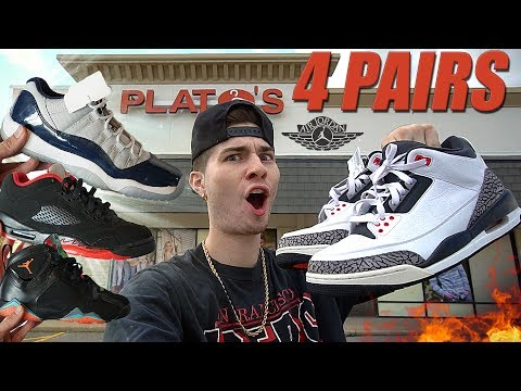 4 PAIRS OF JORDANS COPT IN THE THRIFT SHOP! $400 JACKET FOUND! Trip to the Thrift #186
